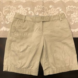 J. Crew Tan Stretch City Fit Chino Shorts
